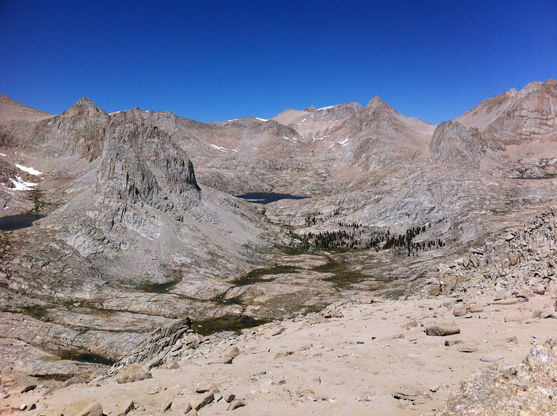 Taken with my iPhone.  The Major General summit view.  The Miter Basin.