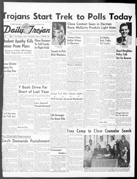 Daily Trojan, Vol. 40, No. 132, May 04, 1949