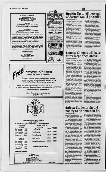 Daily Trojan, Vol. 139, No. 10, January 26, 2000