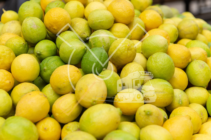 Pile of Egyptian limes at the souk of the historical Cairo