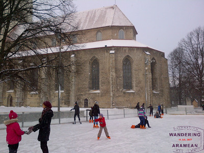 Ice skating in the snow - Tallinn, Estonia