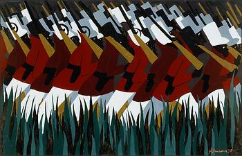 """Jacob Lawrence, """"The Life of Toussaint L'Ouverture No. 23"""" (1938)"""