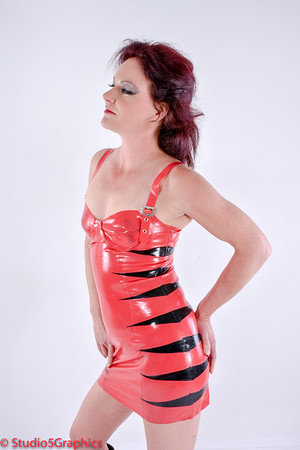 Roux Lette Red Latex Dress SFW