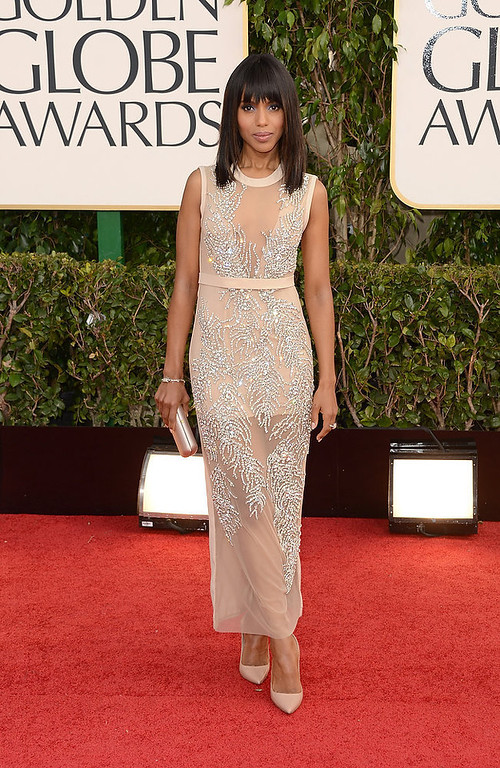 . Actress Kerry Washington arrives at the 70th Annual Golden Globe Awards held at The Beverly Hilton Hotel on January 13, 2013 in Beverly Hills, California.  (Photo by Jason Merritt/Getty Images)