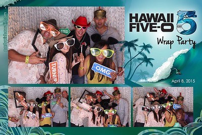 Hawaii 5-O Wrap Party (LED Open Air Photo Booth)