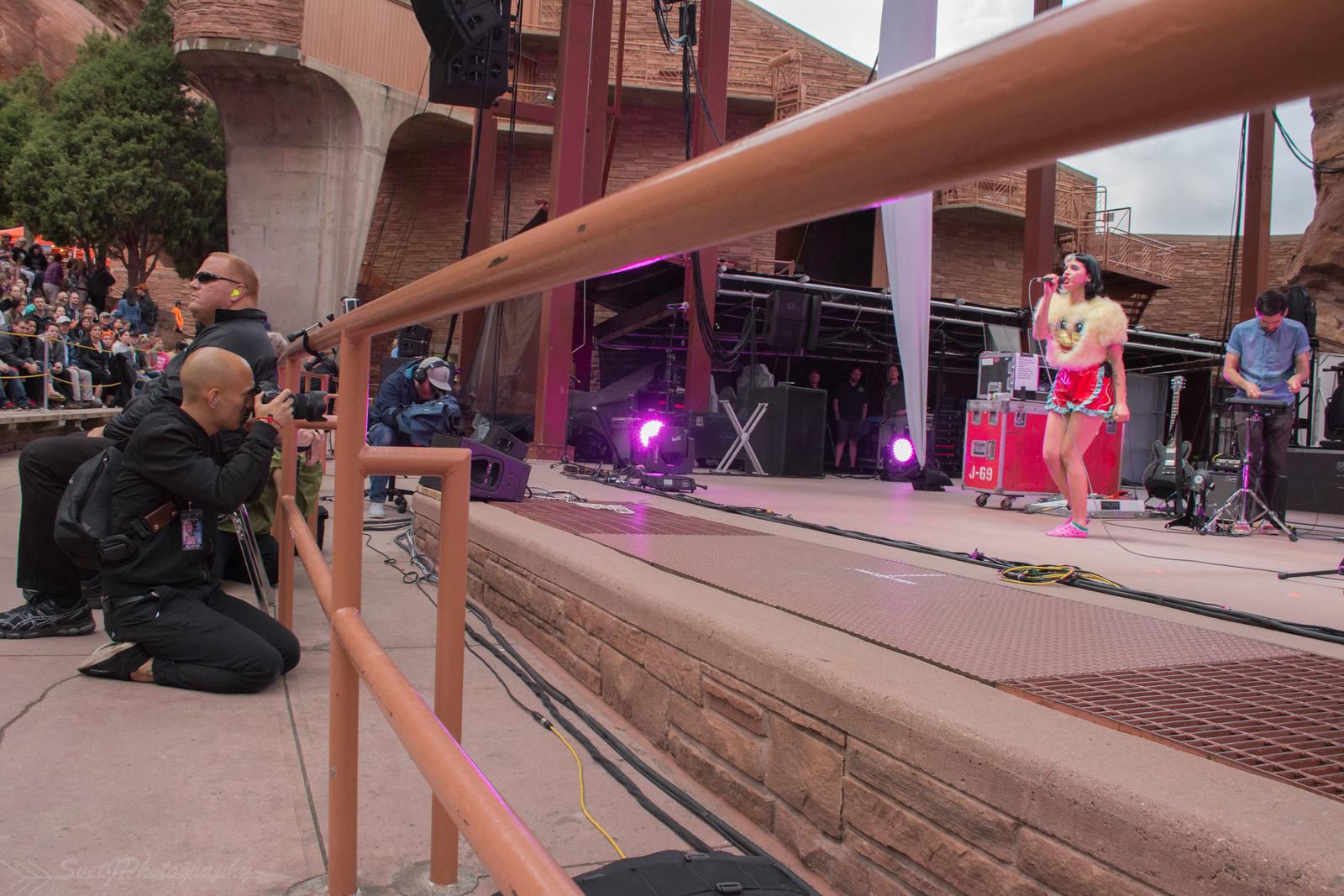 Adam Elmakias Photographing Melanie Martinez Live at Red Rocks Amphitheater