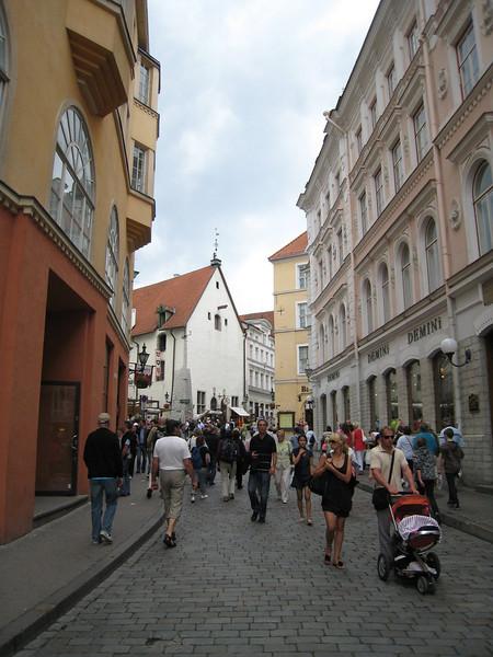 Cobblestone street in Tallinn
