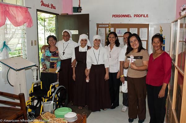 Wheelchair Distribution at Sagrada Familia Elementary School
