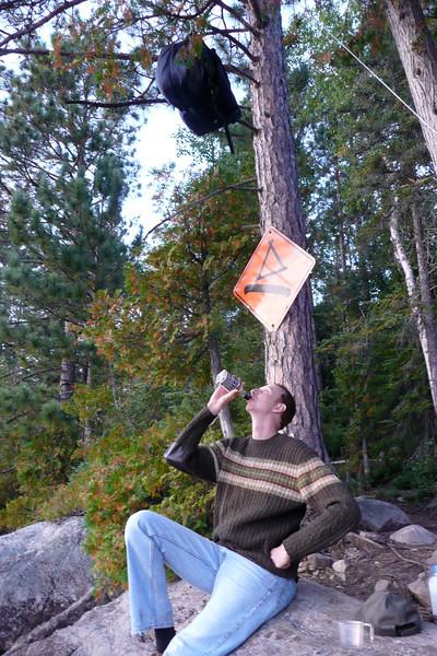 Living Dangerously. Campsite 15-82, lac Jean-Peré, La Vérendrye Wildlife Reserve