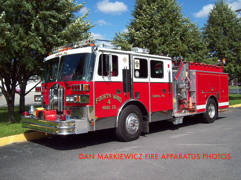 FOURTH WARD HOSE CO. DUBOIS ENGINE 74 1990 SUTPHEN PUMPER