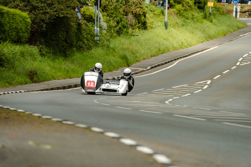 Wayne Lockey & Mark Sayers RealracingF2, 600 Ireson Honda, Isle of Man TT Sidecar 2017 at Bedstead