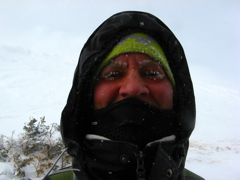 It was really hard to see with all the ice on my eyes!