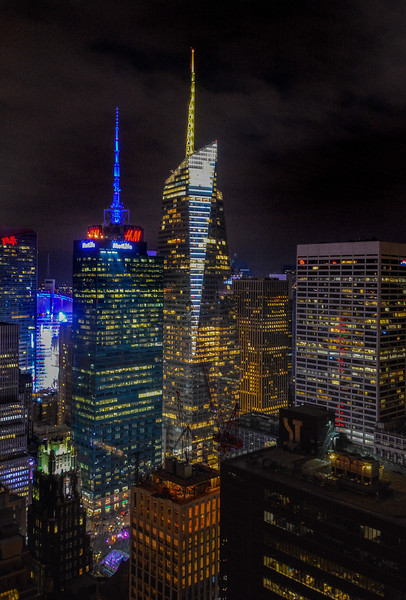 Manhattan View Night Lights