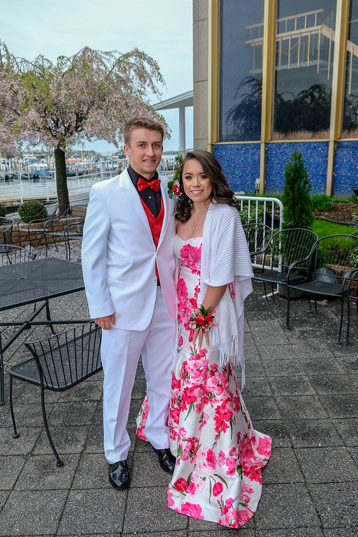 . Tyler Groat and Yasmin Uresti were among the first to arrive at The Roostertail. Grosse Ile High School held their 2018 Prom on Saturday night at The Roostertail in Detroit. Photos by Matthew Thompson for The News-Herald