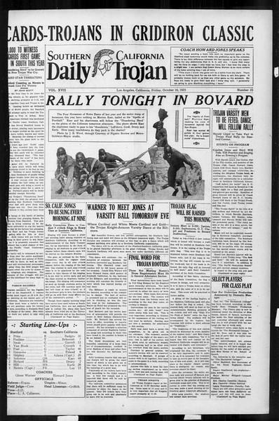 Daily Trojan, Vol. 17, No. 23, October 16, 1925