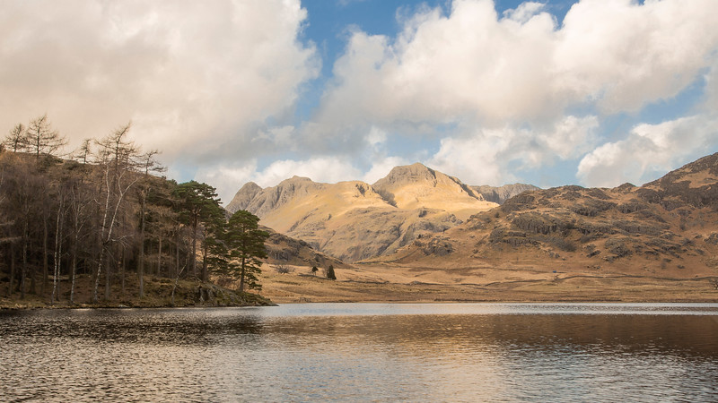 The Langdale Pikes From Blea Tarn In The English Lake District