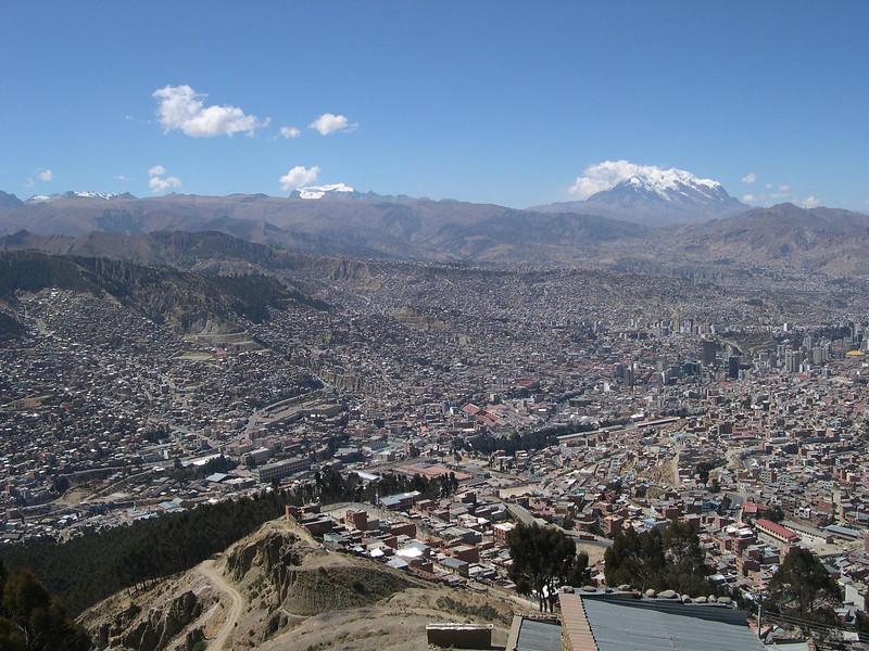 La Paz from the skyline.