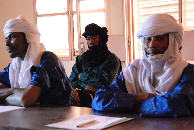 Touareg village chiefs meet with us to discuss what projects they need funding and how they are getting organized.