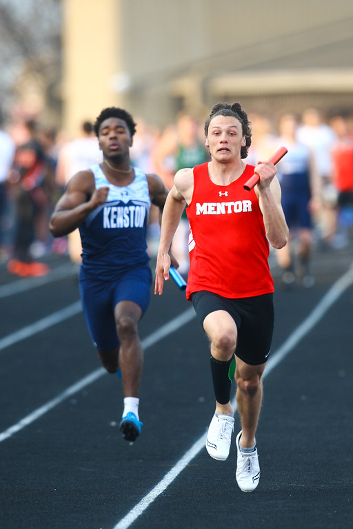 . 2018 - Track and Field - Willoughby South Invitational.  4x100 Meter Relay won by Mentor in a time of 45.11, anchored by John Pap.