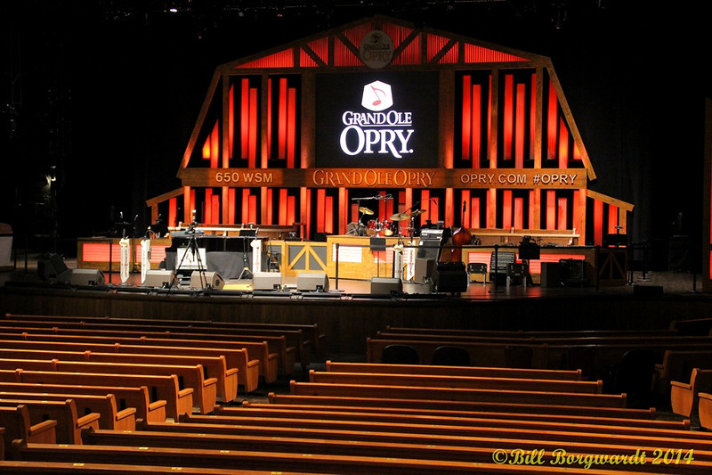 The famous Grand Ole Opry stage
