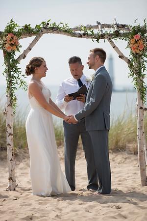 Lake Michigan beach Wedding Frankfort Elberta Photography