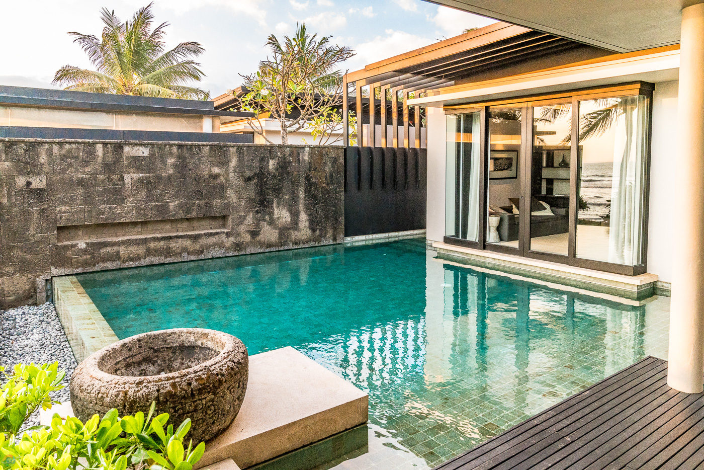 Your private pool inside you private villa brings a welcome chance to relax.