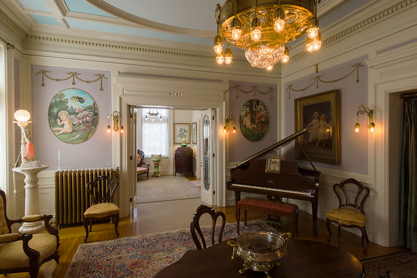 Magic Chef Mansion Parlor and Music Room