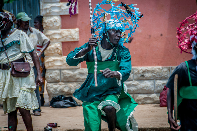 Street performers in Sao Tome, Sao Tome and Principe