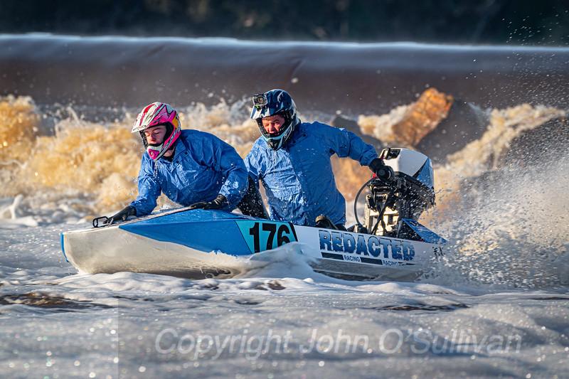 Avon Descent 2021 Power Boats_ Northam Weir