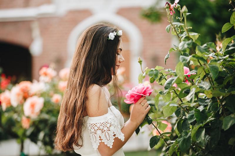 Sabine-Senior Photography- Rose Garden - Morris Chapel - Stockton - North California