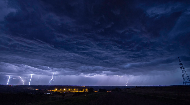 Stormy Night - Near Borden, Saskatchewan