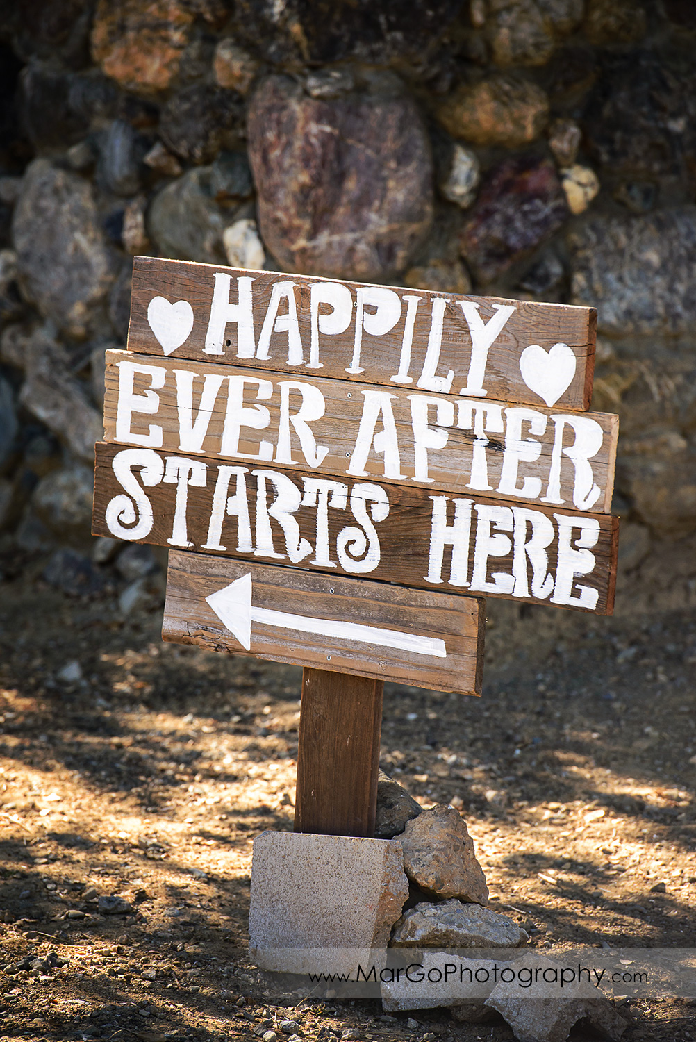 happily ever after wedding sign