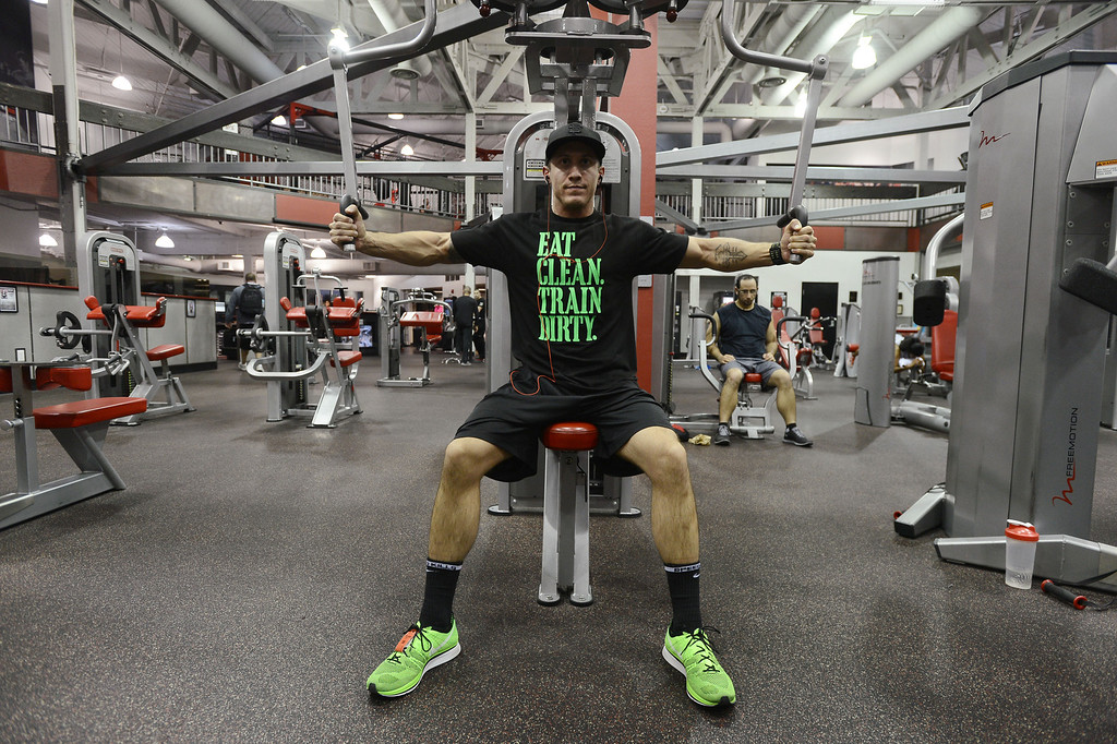 . Daniel Marin works out at the UFC gym in Concord, Calif. on Monday, Jan. 7, 2013. (Kristopher Skinner/Staff)