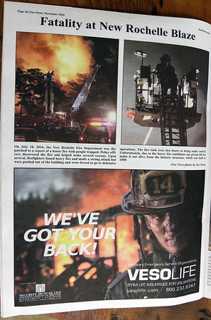 CFPA Members in The Fire News Magazine 2016