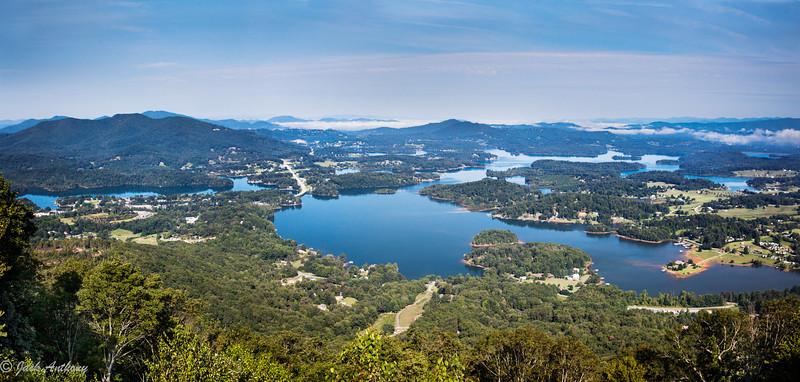 Lake Chatuge from Bell Mountain, Hiawassia, GA