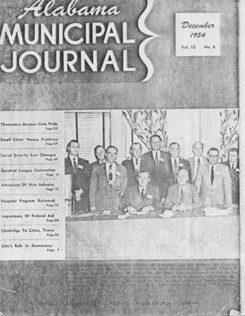 Alabama Municipal Journal - Dec. 1954