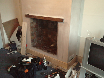 Fireplace in White Slate