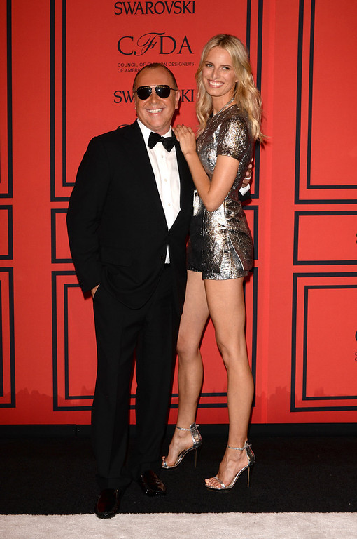 . Designer Michael Kors (L) and Model Karolina Kurkova attend 2013 CFDA Fashion Awards at Alice Tully Hall on June 3, 2013 in New York City.  (Photo by Andrew H. Walker/Getty Images)