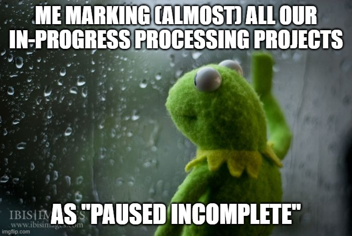 Sad Kermit marking collections as