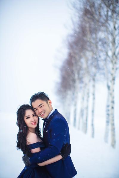 Hokkaido winter pre wedding
