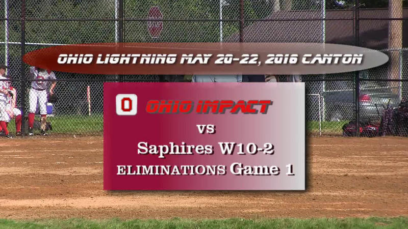 Eliminations Game 1 vs Saphires