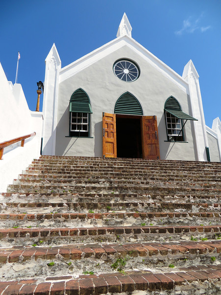 St. Peter's Church is the oldest surviving Anglican church in continuous use outside the British Isles.  The oldest parts of the current structure date to 1620. - St. George