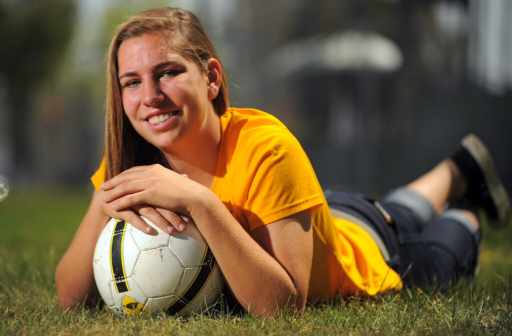 . LONG BEACH - 03/27/2013  (Photo: Scott Varley, Los Angeles Newspaper Group)  Girls Soccer Player of the Year Samantha Reinhard of Wilson High