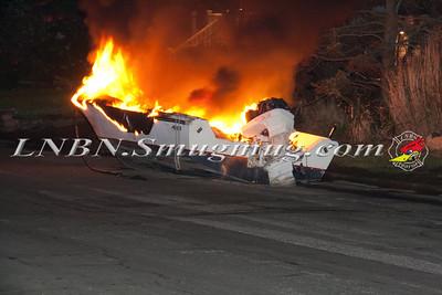 Copiague F.D. Boat Fire West Lido Promenade & West Seacrest Ave 6-18-13