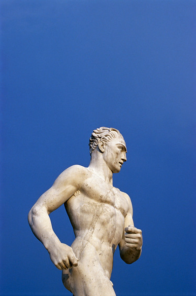 Runner Statue at Foro Italico in Rome, Italy
