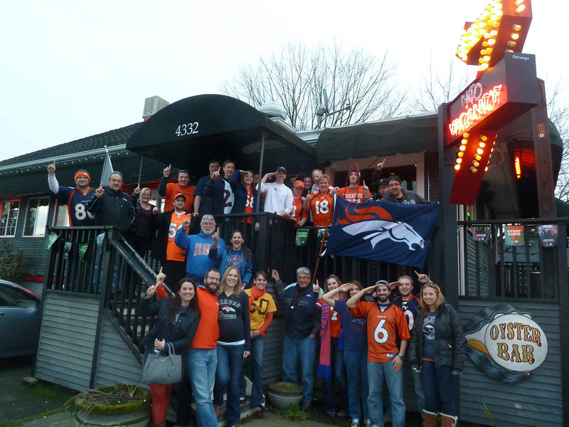 . Denver Bronco Fans in Seattle celebrate the #1 AFC Seed and a win over the Chiefs!