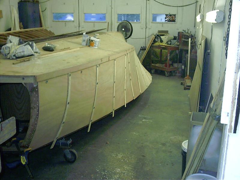 Port side rear view.