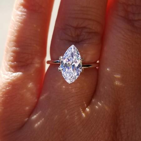 1.48ct Antique Moval Marquise Diamond - GIA E, VS2 w/SB Fluorescence