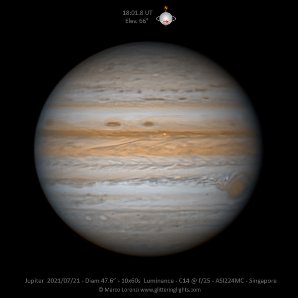 Jupiter on July 21, 2021