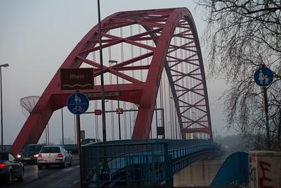 Solidaritat Brucke Rhein Sunrise 03 2014